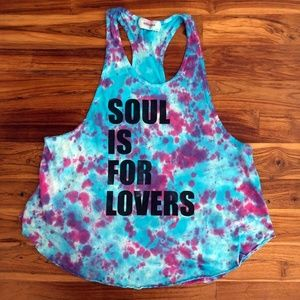 Tie Dyed Soulcycle Muscle Tank Size Medium